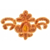Motif Sequin 15.5x9.5cm Orange with matching Centre Stone